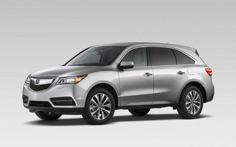 The 2014 Acura MDX receives an EPA-estimated 23 mpg combined fuel economy.