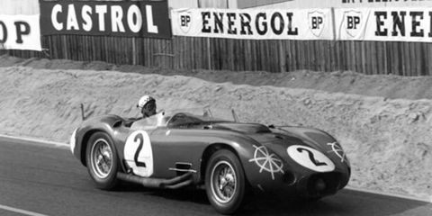 The Maserati 450S Spyder of Andre Simon and Jean Berha (inspiration for AW's helmet logo).