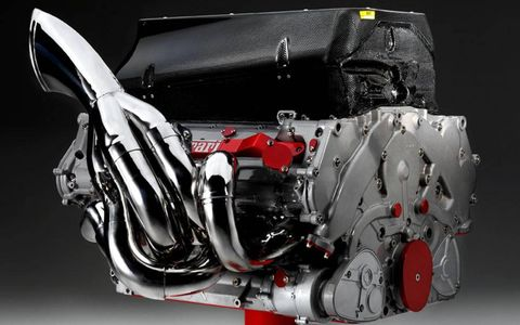 For just over $100,000 a British enthusiast took home this F2008 engine