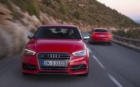 The 2015 Audi S3 gets a 292-hp turbo four.