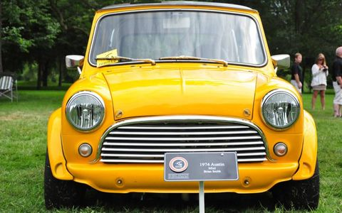 A 1974 Austin Mini, owned by Brian Smith.