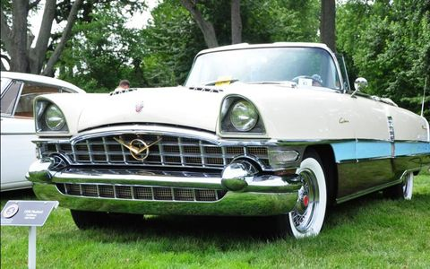 A 1956 Packard Caribbean, owned by Neil Porter.