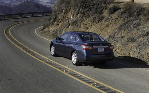 The 2014 Nissan Sentra SL receives an EPA-estimated 34 mpg combined fuel economy.