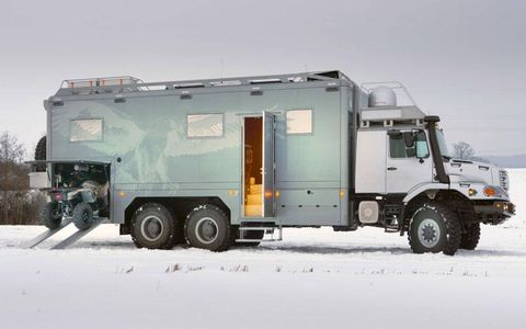 Need room for an ATV? The Zetros motorhome has that covered