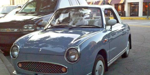 The Nissan Figaro is powered by a turbocharged 1-liter engine
