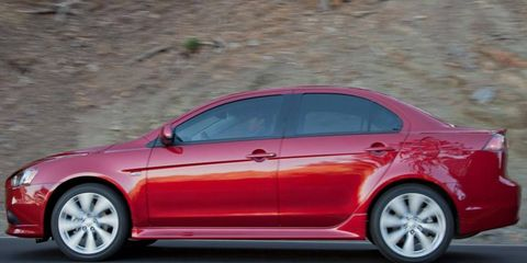 The Lancer's outside appearance has athletic lines and cuts a fairly unique profile