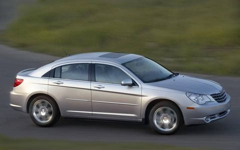 The Sebring will come with three engine options in the United States: the new 2.4-liter four-cylinder World Engine, a 2.7-liter V-6 engine and an available 3.5-liter V-6 engine coupled with a new six-speed automatic transaxle. Front and side-curtain air bags will be a standard feature on U.S. models.