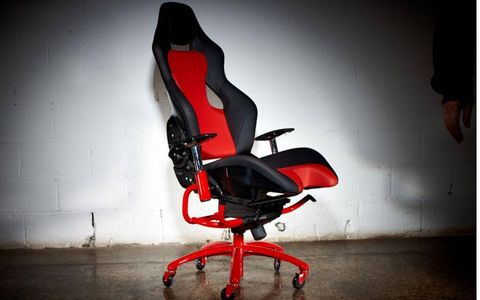 Red, Carmine, Still life photography, Shadow, Office chair, Graphics, Armrest,