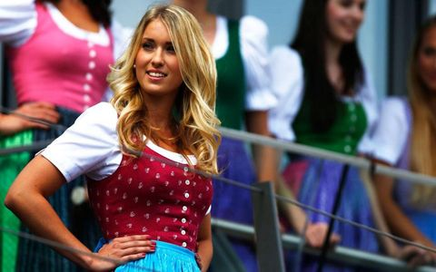 The grid girls of Austria know the difference between the Sound of Music to the sound of Formula One.