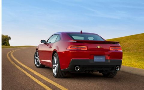 The 2014 Chevrolet Camaro 2SS Coupe is equipped with a 6.2-liter V8, pushing out 426 hp with 420 lb-ft of torque.