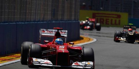 Fernando Alonso has a 20-point lead in the Formula One championship after a win in Valencia.