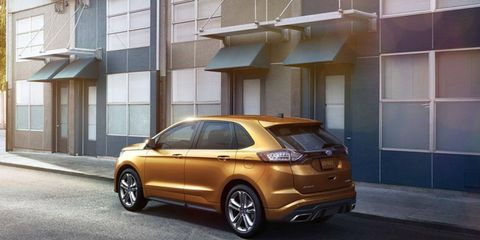 """The 2015 Ford Edge Sport gets a new 2.7-liter turbocharged V6 making """"more than 300 hp,"""" according to Ford."""