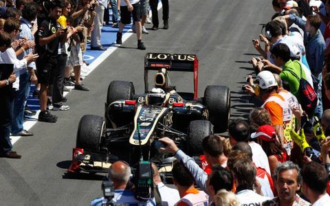 Kimi Räikkönen brought his Lotus home in second place at the European Grand Prix on Sunday.