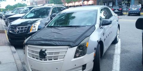 This Cadillac XTS mule was recently spotted in Birmingham, MI.