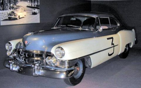 """This conventional 1950 Cadillac Series 61 Coupe ran alongside """"Le Monstre"""" in the 24 Hours of Le Mans."""