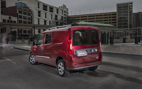 The ProMaster City will also be available as a five-seat wagon with a range of options when it comes to windows vs. sheetmetal panels.