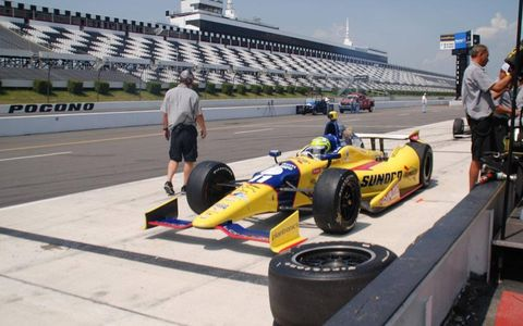 Indianapolis 500 winner Tony Kanaan was part of an IndyCar test at Pocono on Tuesday.