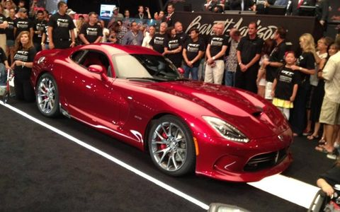The 2013 SRT Viper sold for $300,000.