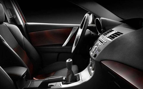 The Mazdaspeed3 comes with a six-speed manual