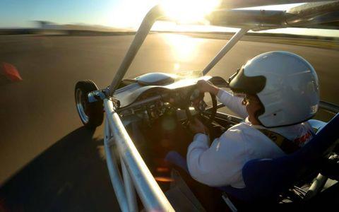 The prototype resembles Nissan's ZEOD RC race car that ran Le Mans.