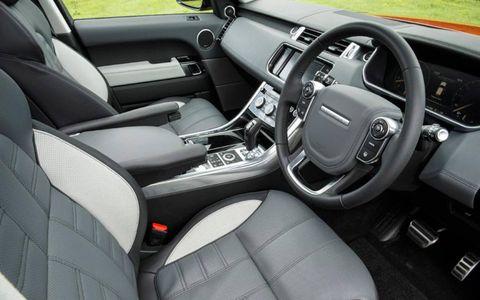 The Range Rover Sport comes equipped with an eight-speed automatic for both engines