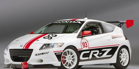 The Honda CRZ hybrid coupe that will take on Pikes Peak.