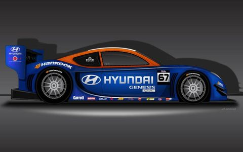The Hyundai PM580T coupe for Pikes Peak.