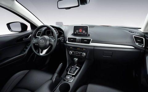 The 2014 Mazda 3 incorporates the i-ELOOP system to increase fuels economy by utilizing regenerative braking technology.