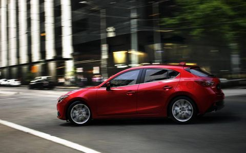ActivSense makes the 2014 Mazda 3 easier to drive in the city, with lane-departure warning, forward obstruction warning and other embedded sensors.