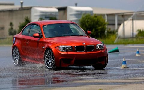 The BMW 1M is one of the vehicles used by students at the BMW Performance driving school.