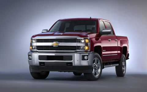 The diesel V6 in the 2015 Chevrolet Silverado 2500HD LTZ produces 397 hp with 765 lb-ft of torque.