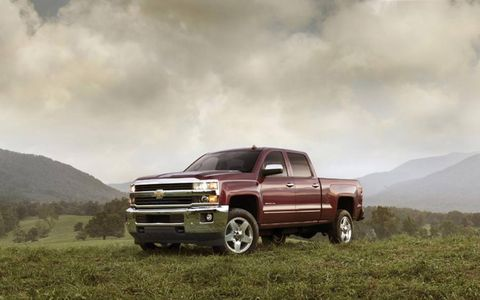 The 2015 Chevrolet Silverado 2500HD LTZ is equipped with a 6.6-liter turbocharged diesel V6.