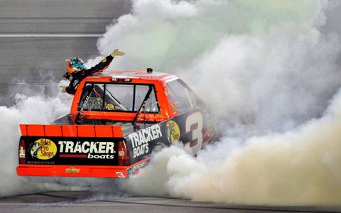 Ty Dillon won his second career NASCAR Camping World Truck Series race on Thursday night at Kentucky.