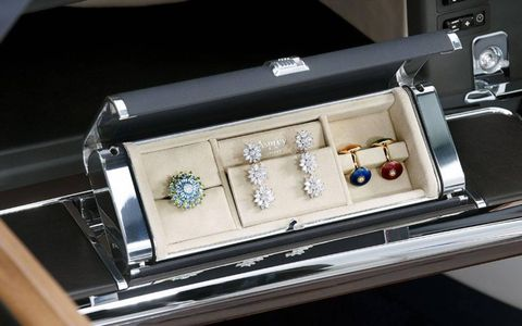 Asprey jewelry box located in glove compartment