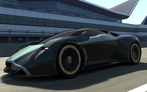 Aston Martin's design and engineering teams spent six months designing the DP-100.