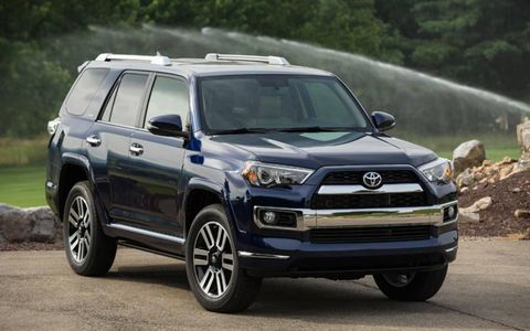 The 2014 Toyota 4Runner Limited receives an EPA-estimated 18 mpg combined fuel economy.