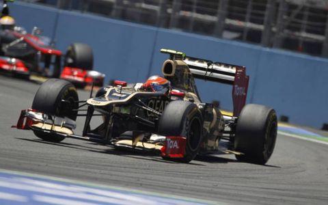 2012 European Grand Prix: Romain Grosjean, Lotus E20 Renault.