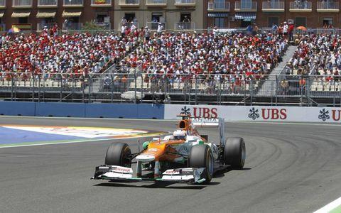 2012 European Grand Prix: Paul di Resta, Force India VJM05 Mercedes.