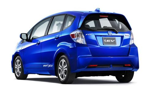 Externally, the Honda Fit EV looks very similar to the conventional Fit.