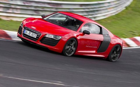 Audi says the electric R8 lapped the Nurburgring in 8 minutes and 9 seconds.