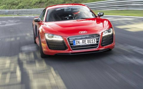 The Audi R8 e-tron uses a pair of electric motors to drive the rear wheels.
