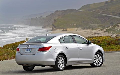 A side view of the 2012 Buick LaCrosse with eAssist