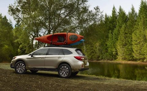 The 2015 Outback's roof height has gained an extra 2 inches.