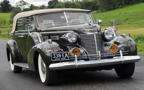 Owned by retired Timken COO Bob Leibensperger, this V8 Cadillac hails from the marque's peak era as Standard of the World and its stately progress on the Saturday Countryside Tour made one wonder if luxury sedans really have made as much progress as you'd expect in nearly 70 years.