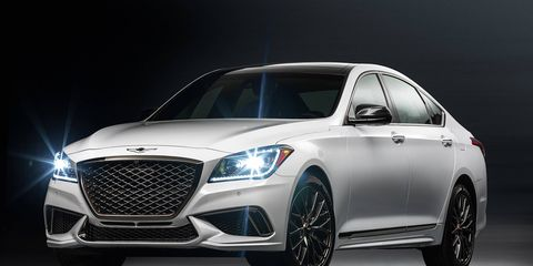 The G80 Sport will occupy the middle spot in the G80 lineup, below the 5.0-liter V8 model.