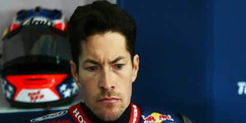 Nicky Hayden was bicycling with friends in Italy on Wednesday when he was hit by a car.