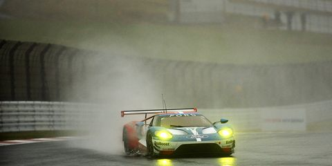The Ford Chip Ganassi Racing Ford GT driven by Andy Priaulx and Harry Tincknell finished last in its class Sunday.