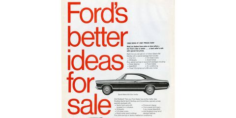 """The """"1968 ideas"""" should have included side marker lights, which these cars don't have."""