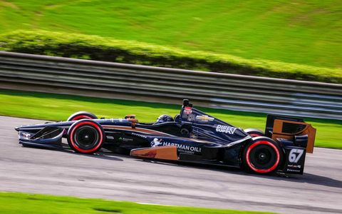 American Josef Newgarden won his first career IndyCar Series race on his 55th try.