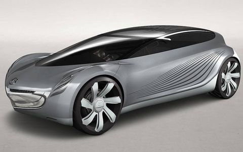 Mazda's series of design concepts started with the Nagare.